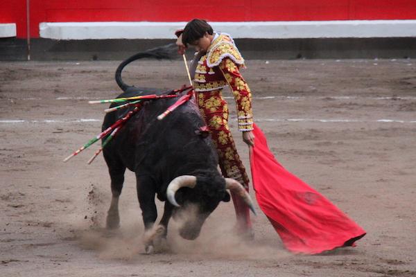 Andrés Roca Rey à Bilbao face à un novillo de El Paralejo